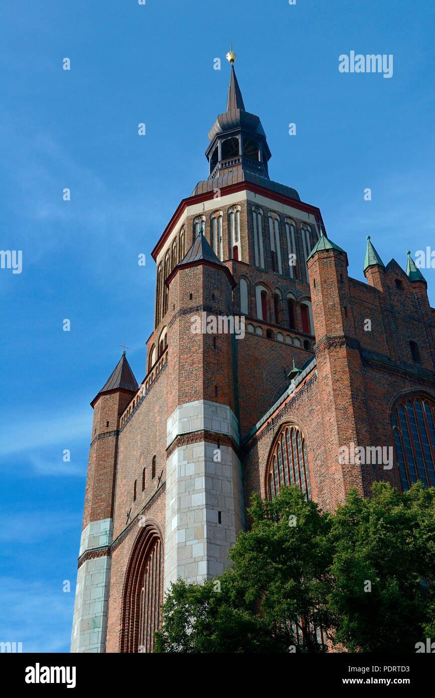 St.-Marienkirche, Stralsund, Mecklenburg-Vorpommern, Deutschland, Europa - Stock Image