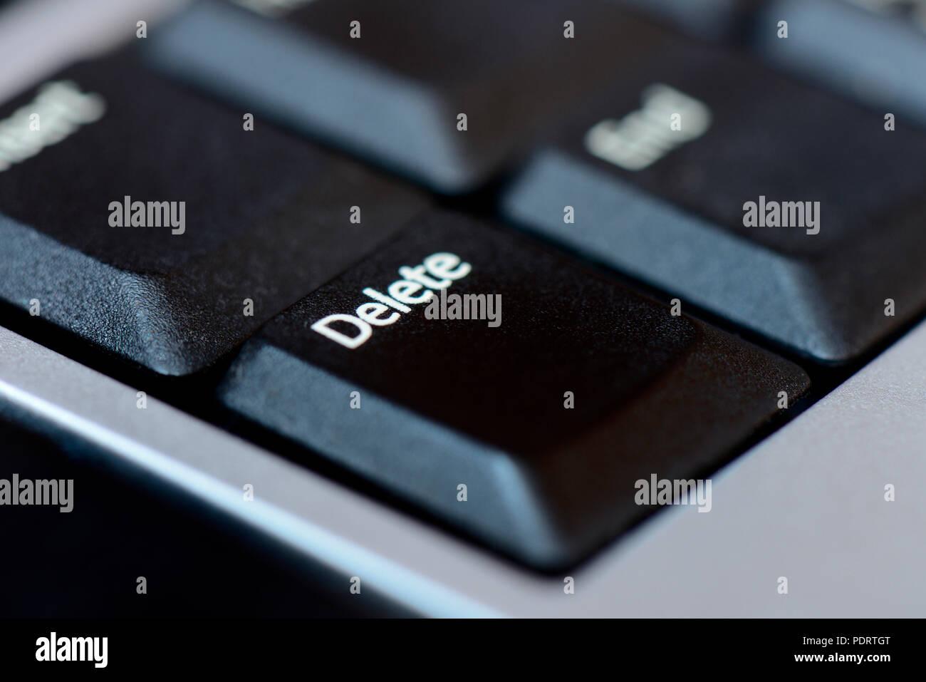 Computer-Tastatur mit Delete-Zeichen, Delete-Taste - Stock Image
