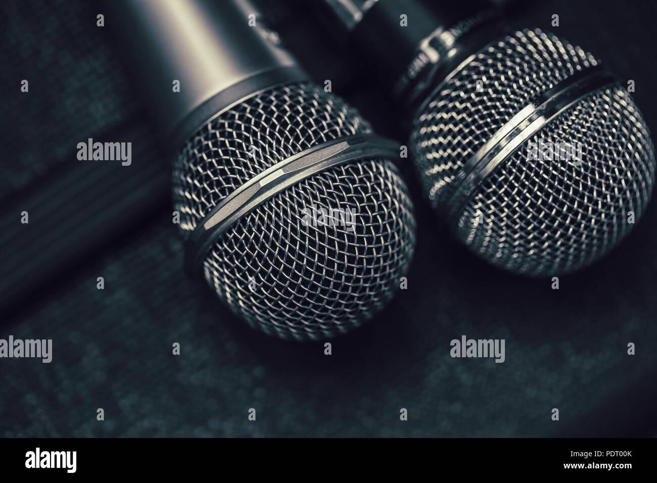 Karaoke Sing Music Record Dark Stock Photos & Karaoke Sing