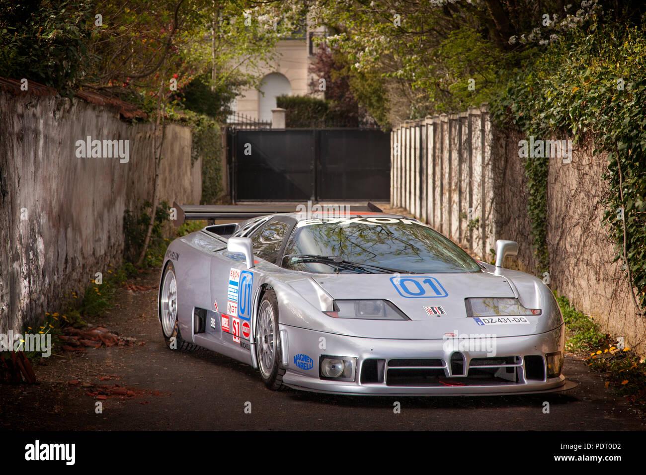 1995 Bugatti EB110 SC GTS-1 IMSA race car - Stock Image