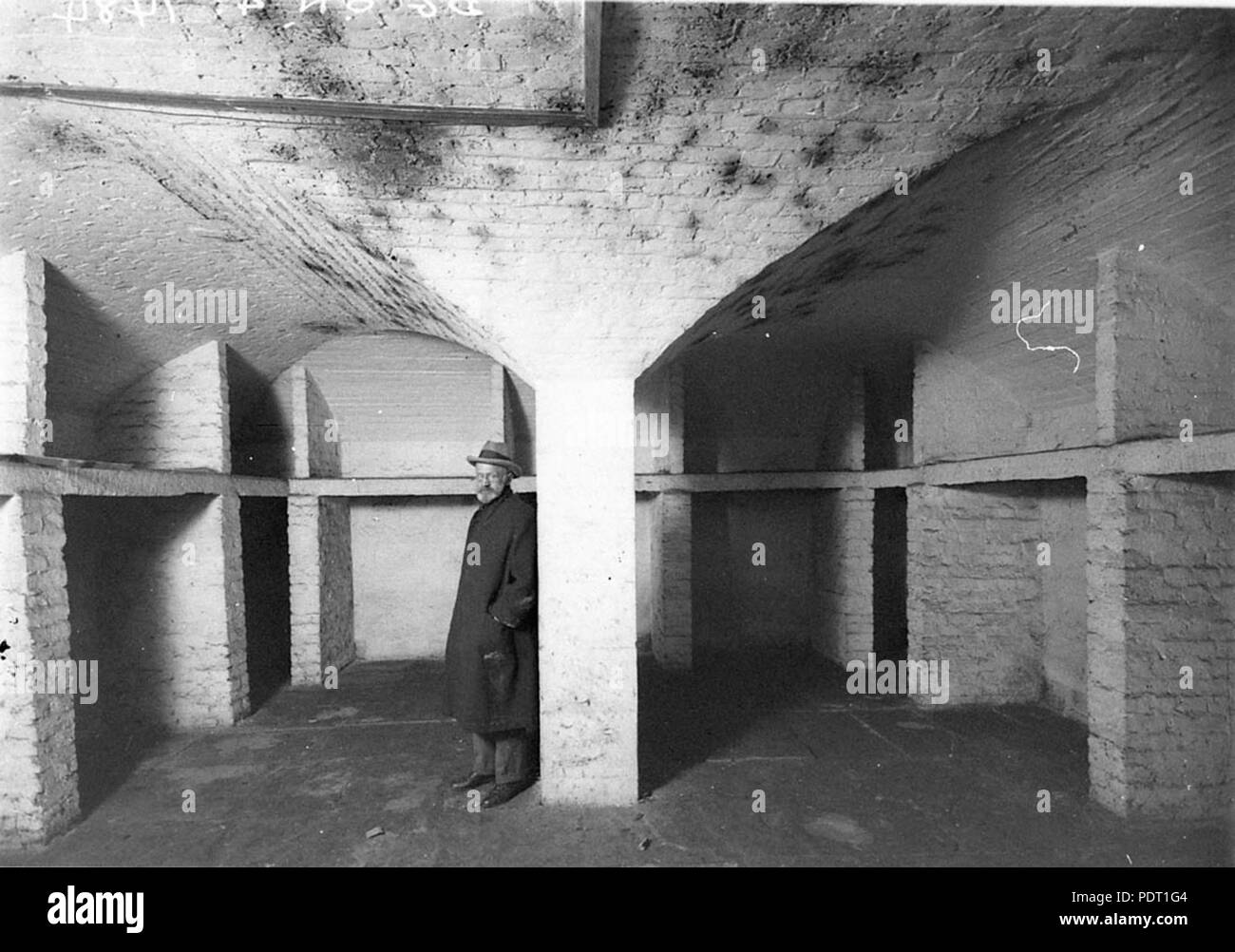 190 SLNSW 8400 The crypt a bearded man in picture - Stock Image