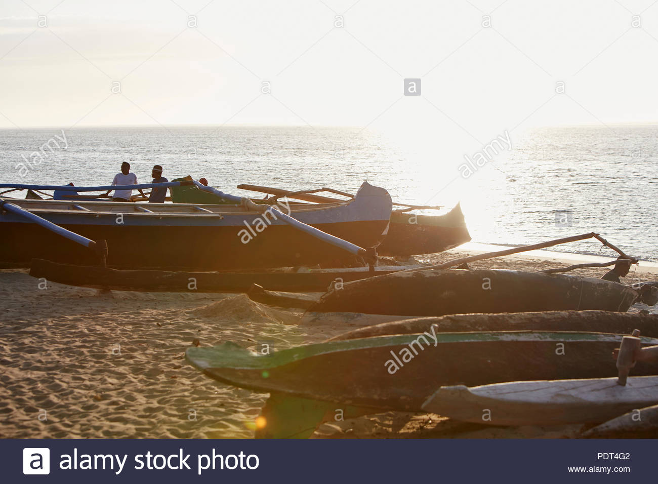 Boote am Strand - Stock Image