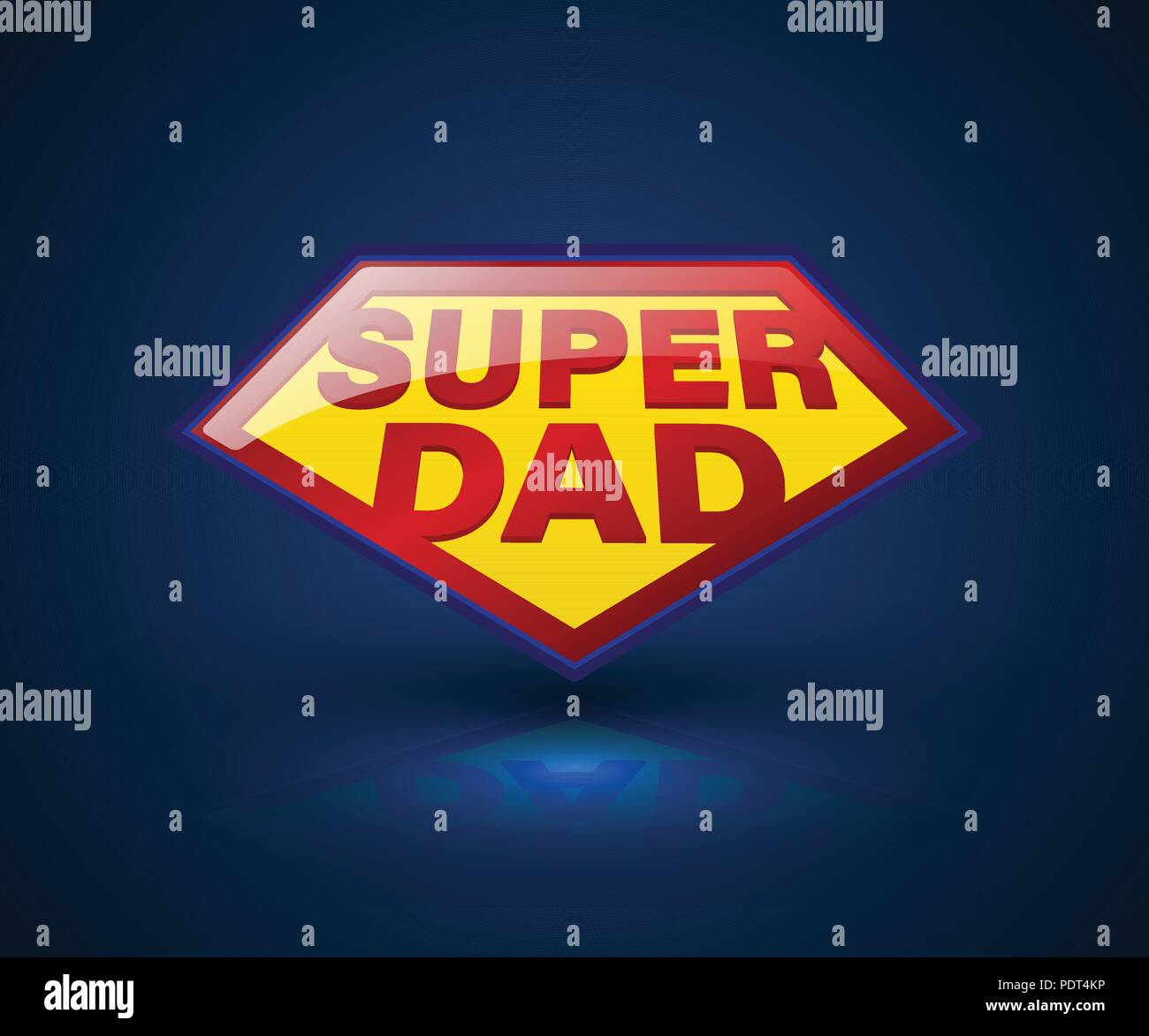Super Dad Shield Symbol For Element Fathers Day Vector
