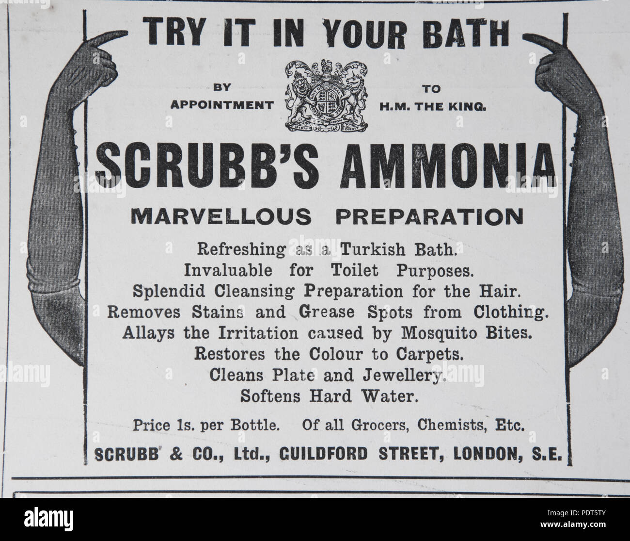An old advert for Scrubb's Ammonia  From a magazine from the