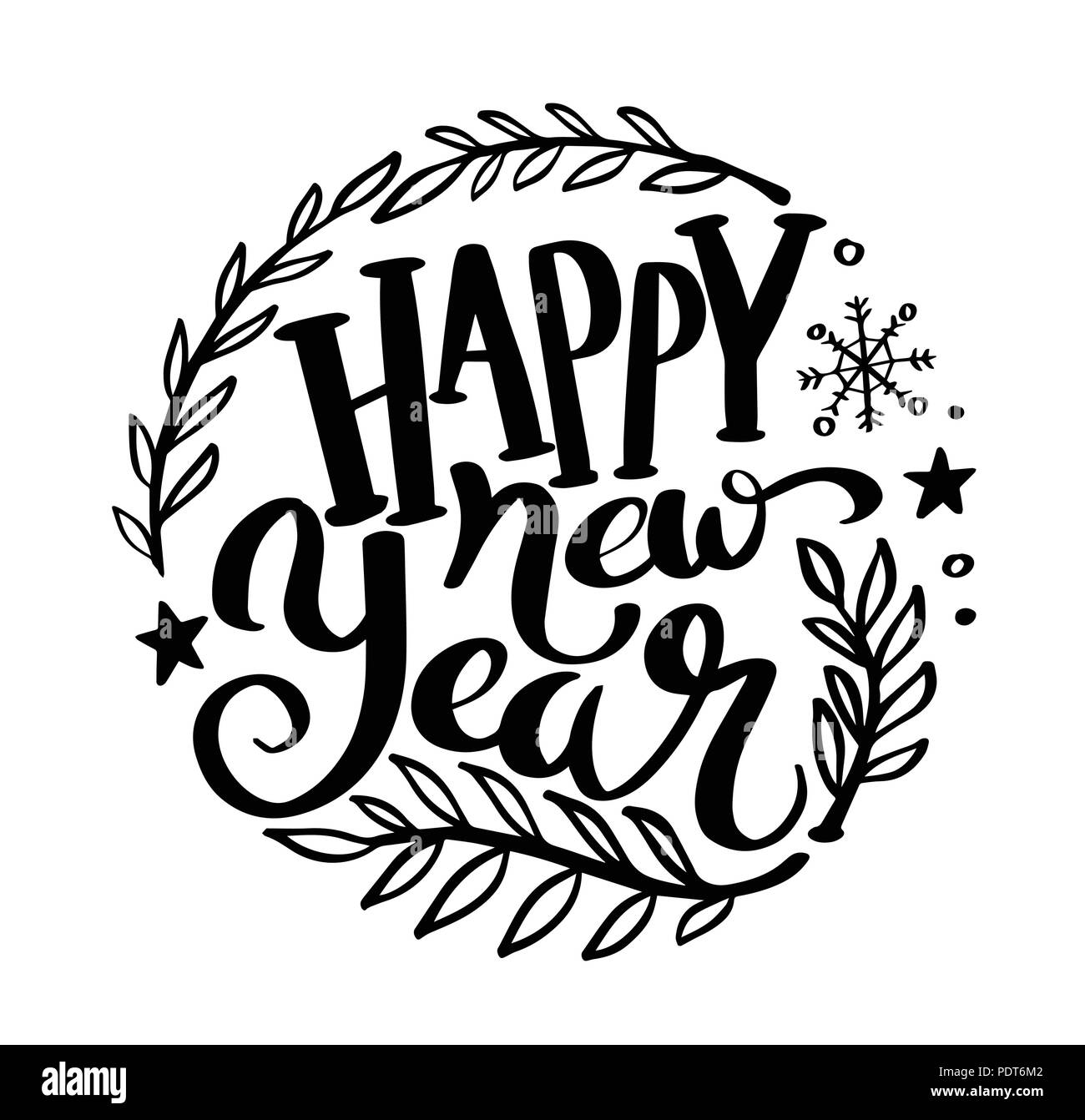 Happy New Year Lettering 31