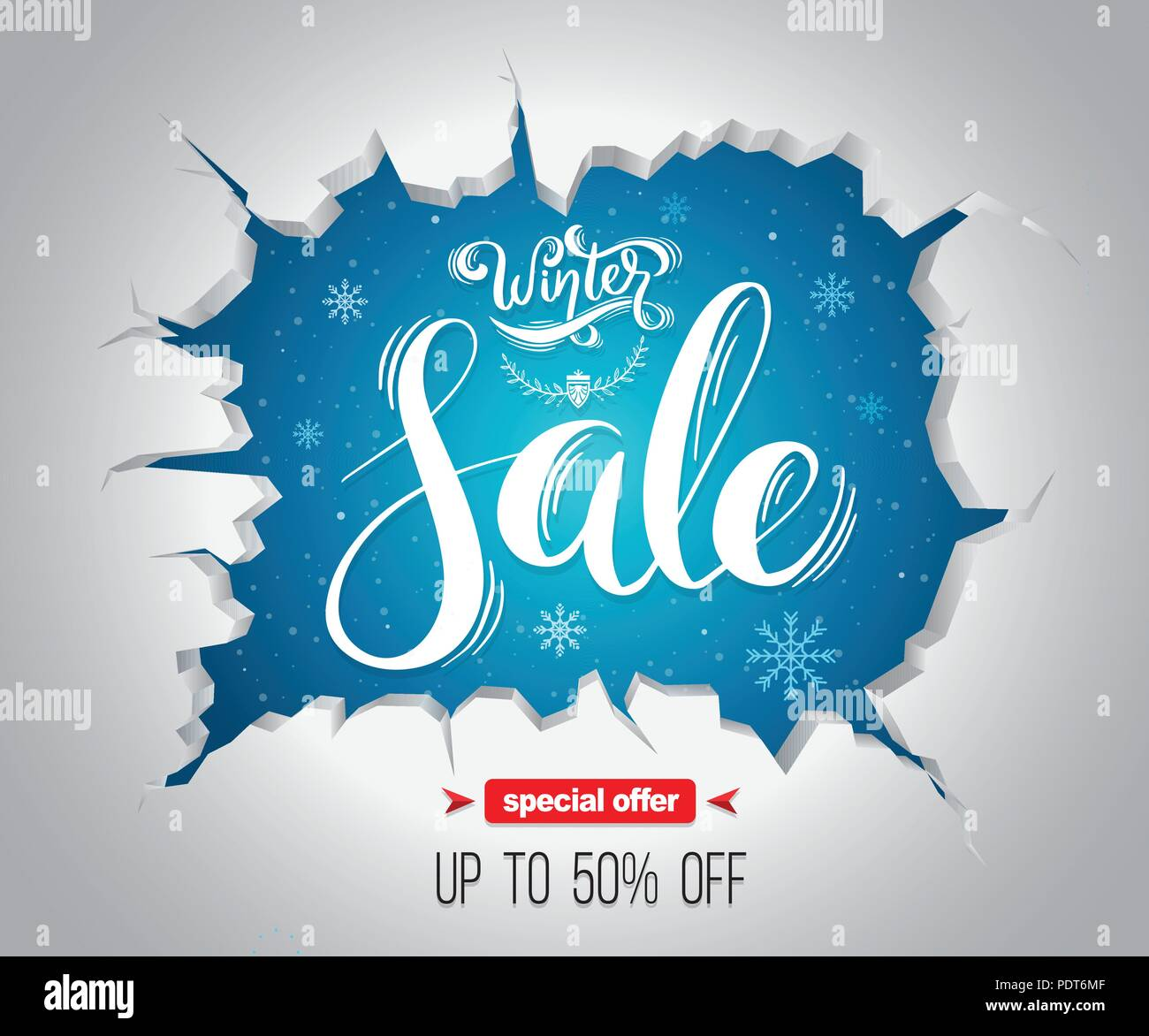 winter sale background for promotion advertising poster and event christmas and new year vector illustration