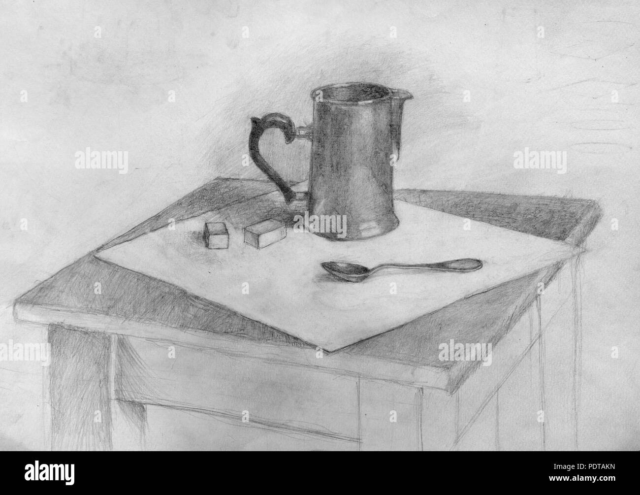 Still life pencil drawing sketch stock photo 215050185 alamy