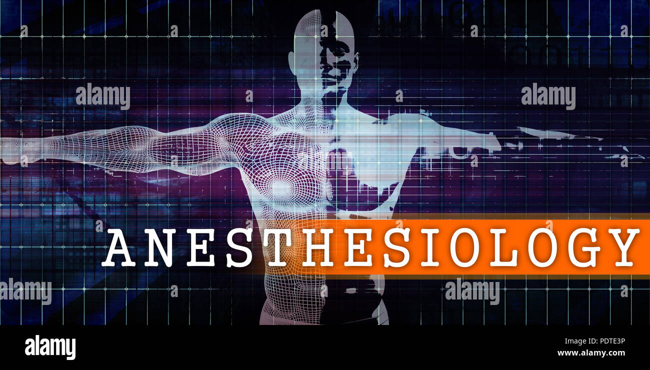 Anesthesiology Medical Industry with Human Body Scan Concept - Stock Image