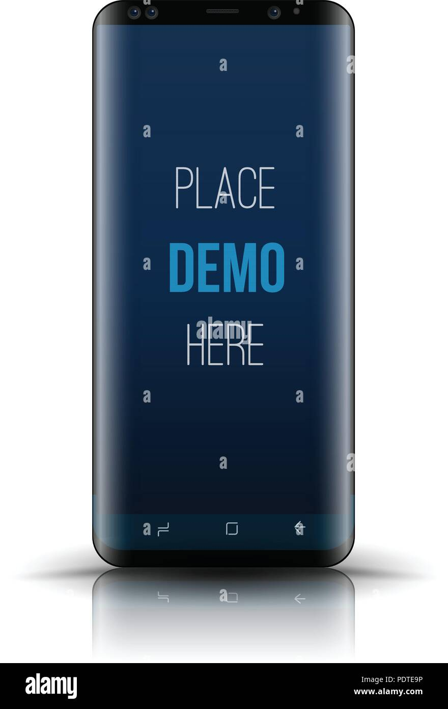 Smartphone mockup  Easy place image into screen smartphone