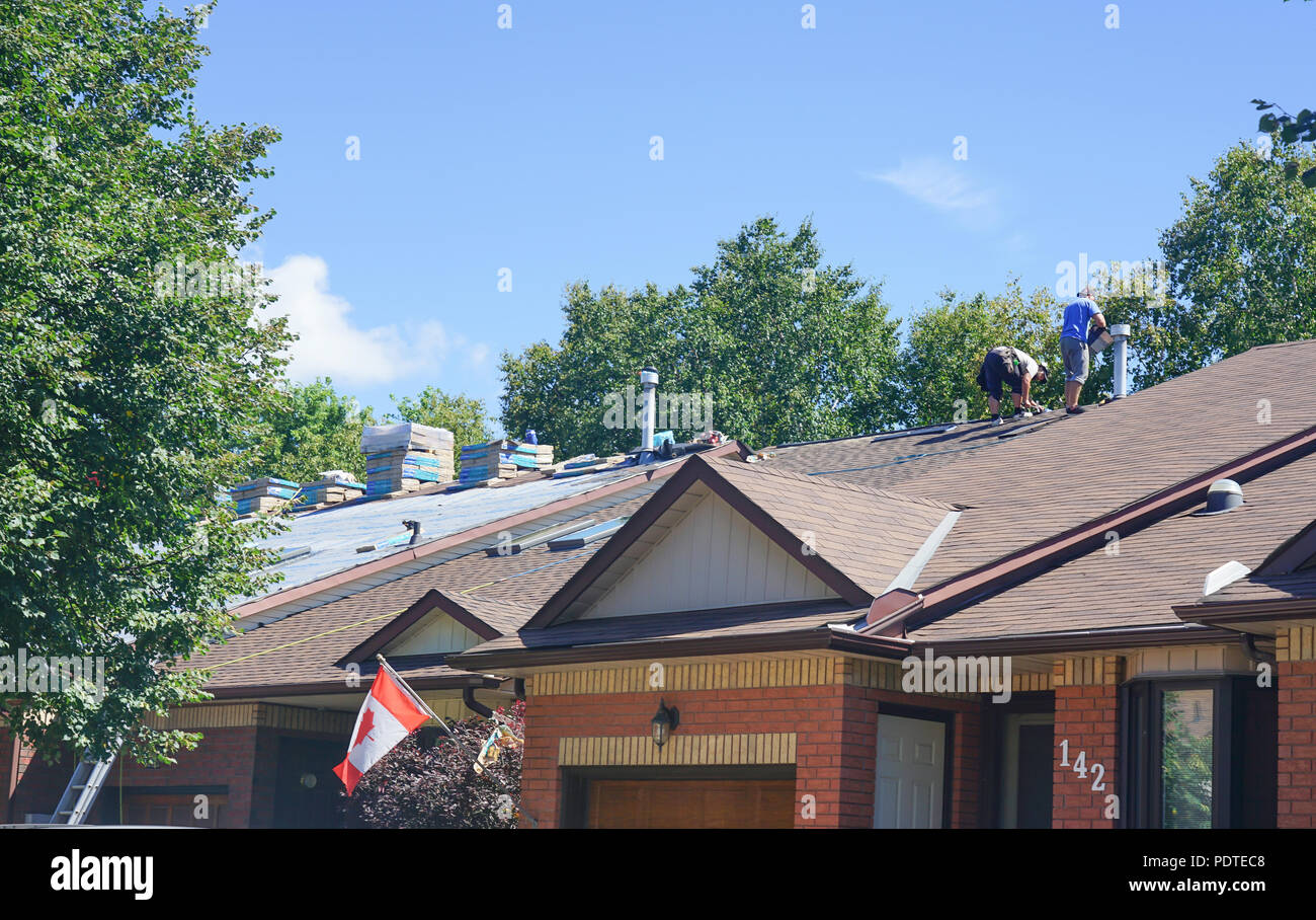 Roof Shingles Worker Stock Photos Amp Roof Shingles Worker