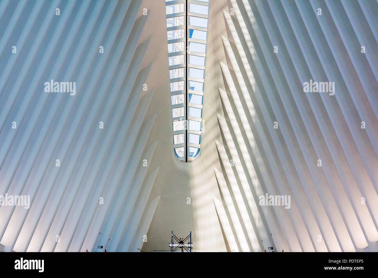 New York - May 31, 2016: The Occulus is a Transportation Hub and Westfield Shopping Center, designed by Santiago Calatrava as part of World Trade Cent - Stock Image
