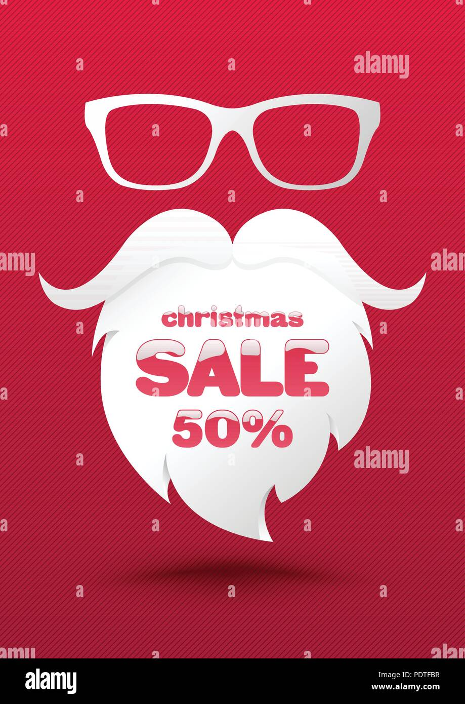 christmas sale poster template use for holidays promotion