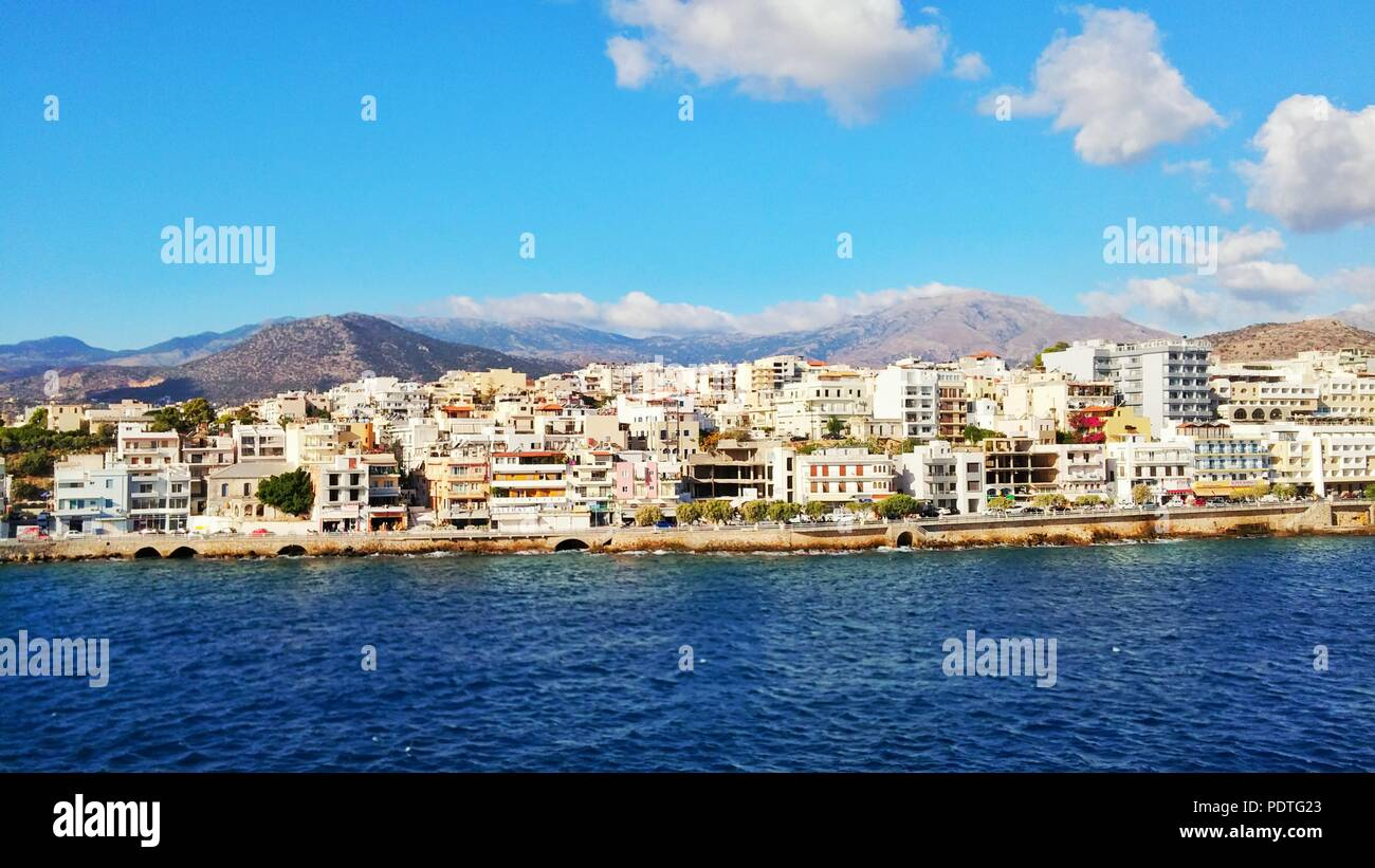 Crete shore view - Stock Image