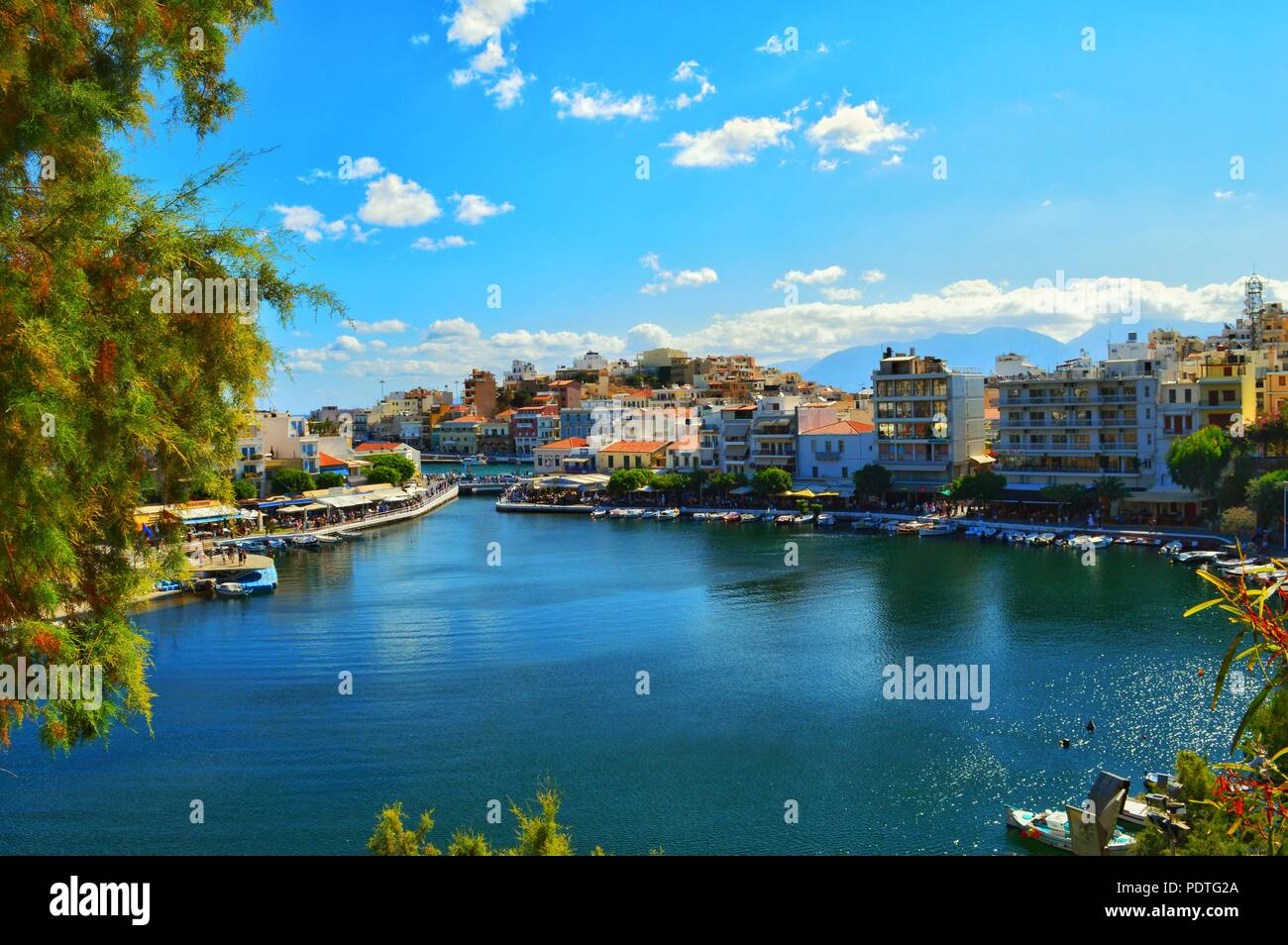 Rhodes view - Stock Image