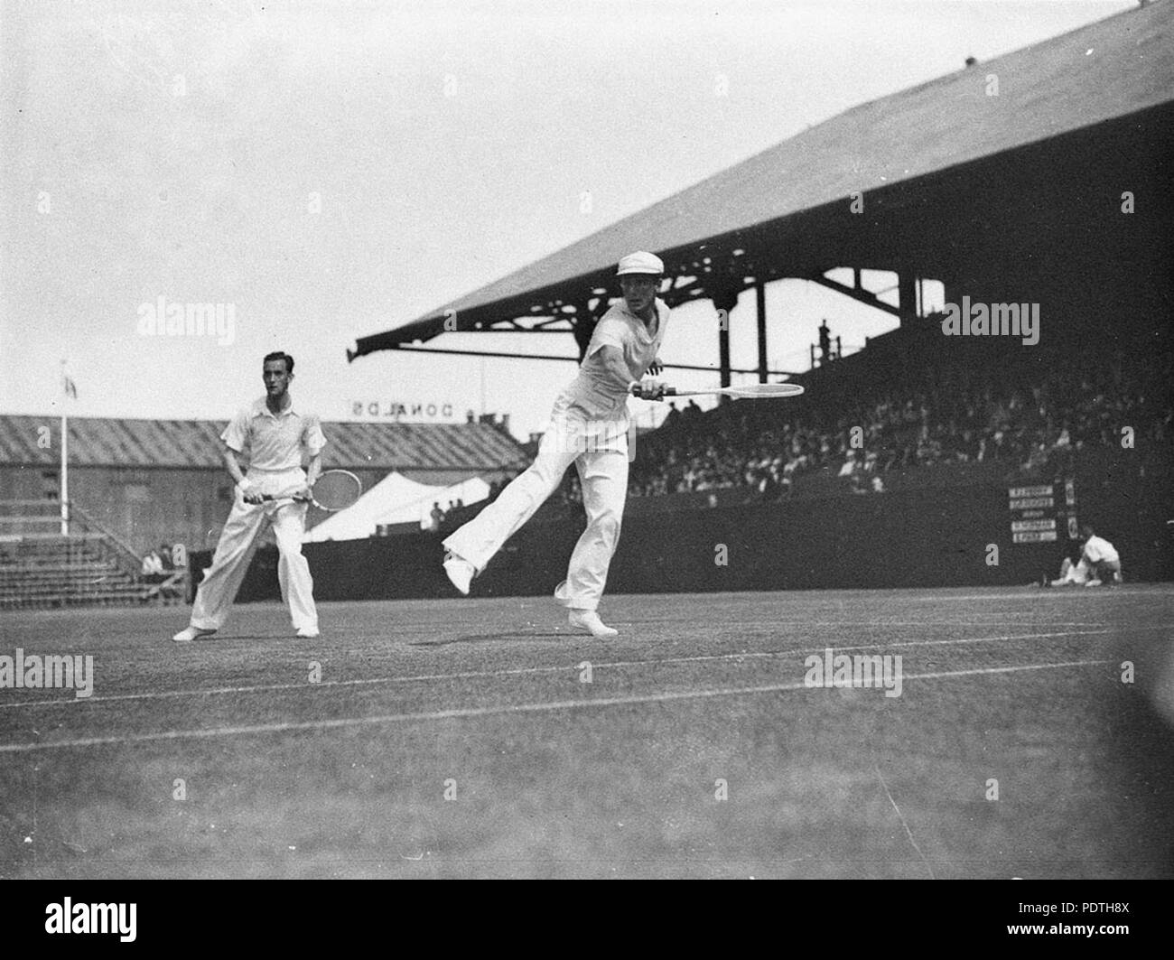 169 SLNSW 51714 Fred Perry and G Pat Hughes - Stock Image