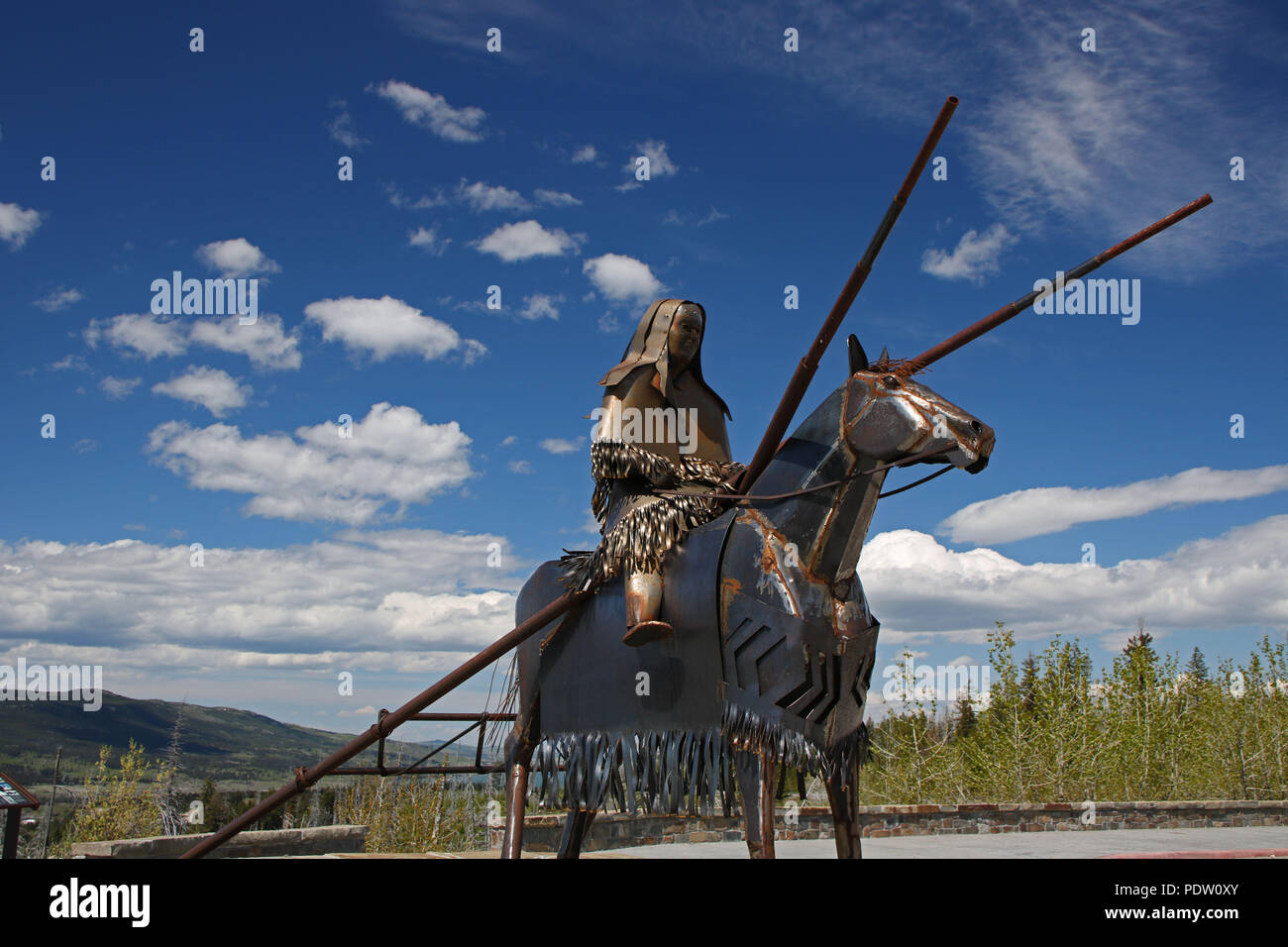 Blackfeet Indian Reservation. Montana, U.S.A Stock Photo