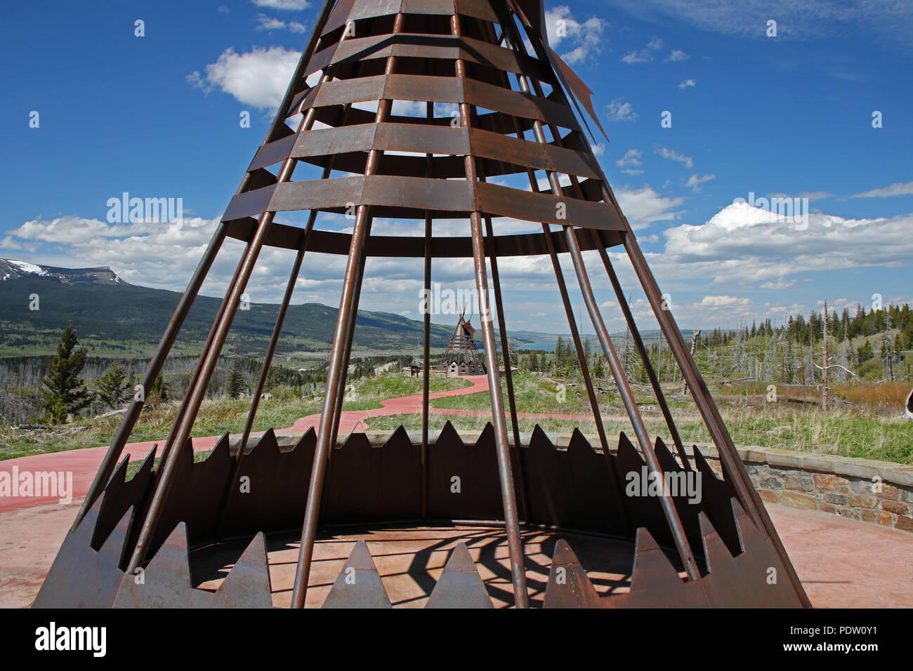 Blackfeet Indian Reservation. Montana, U.S.A - Stock Image