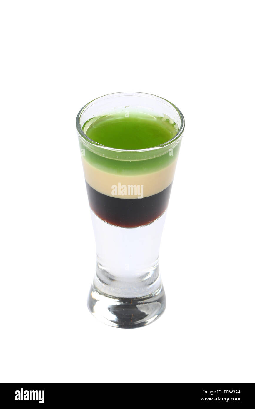 Short cocktail B52 Stock Photo