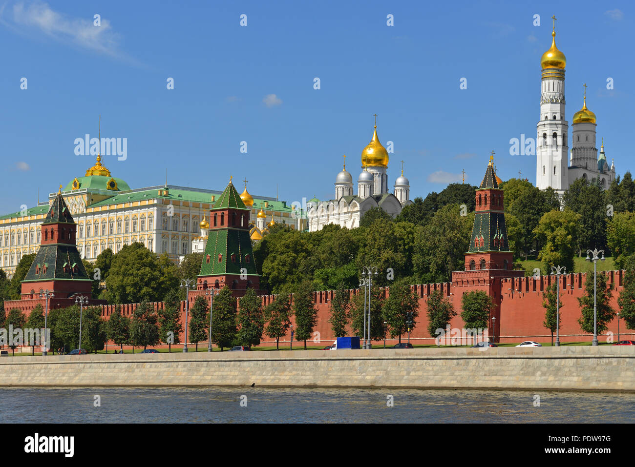 Grand Kremlin Palace in Moscow Kremlin, today official residence of President of Russia - Stock Image