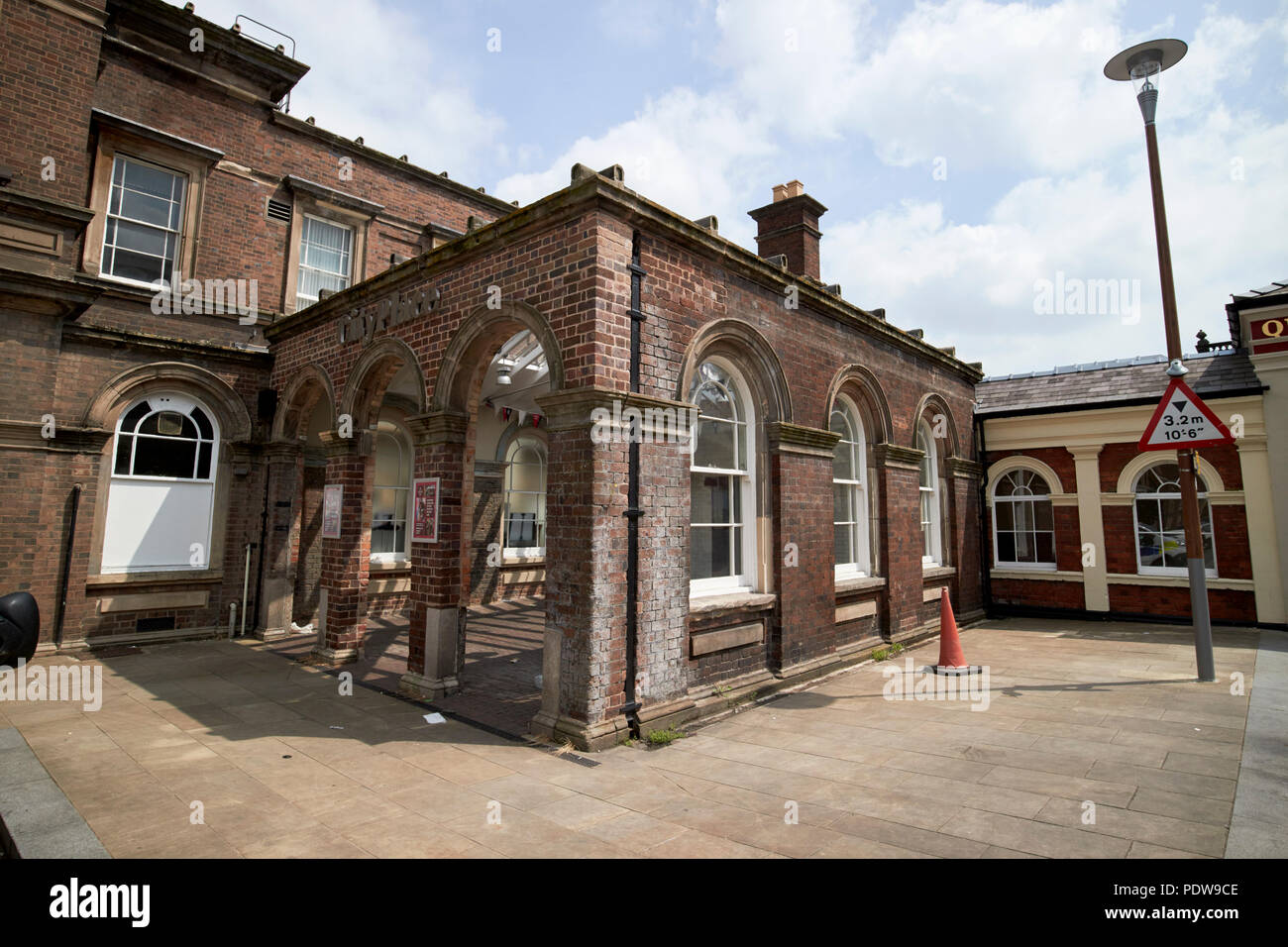 Chester railway station entrance to city place chester cheshire england uk - Stock Image