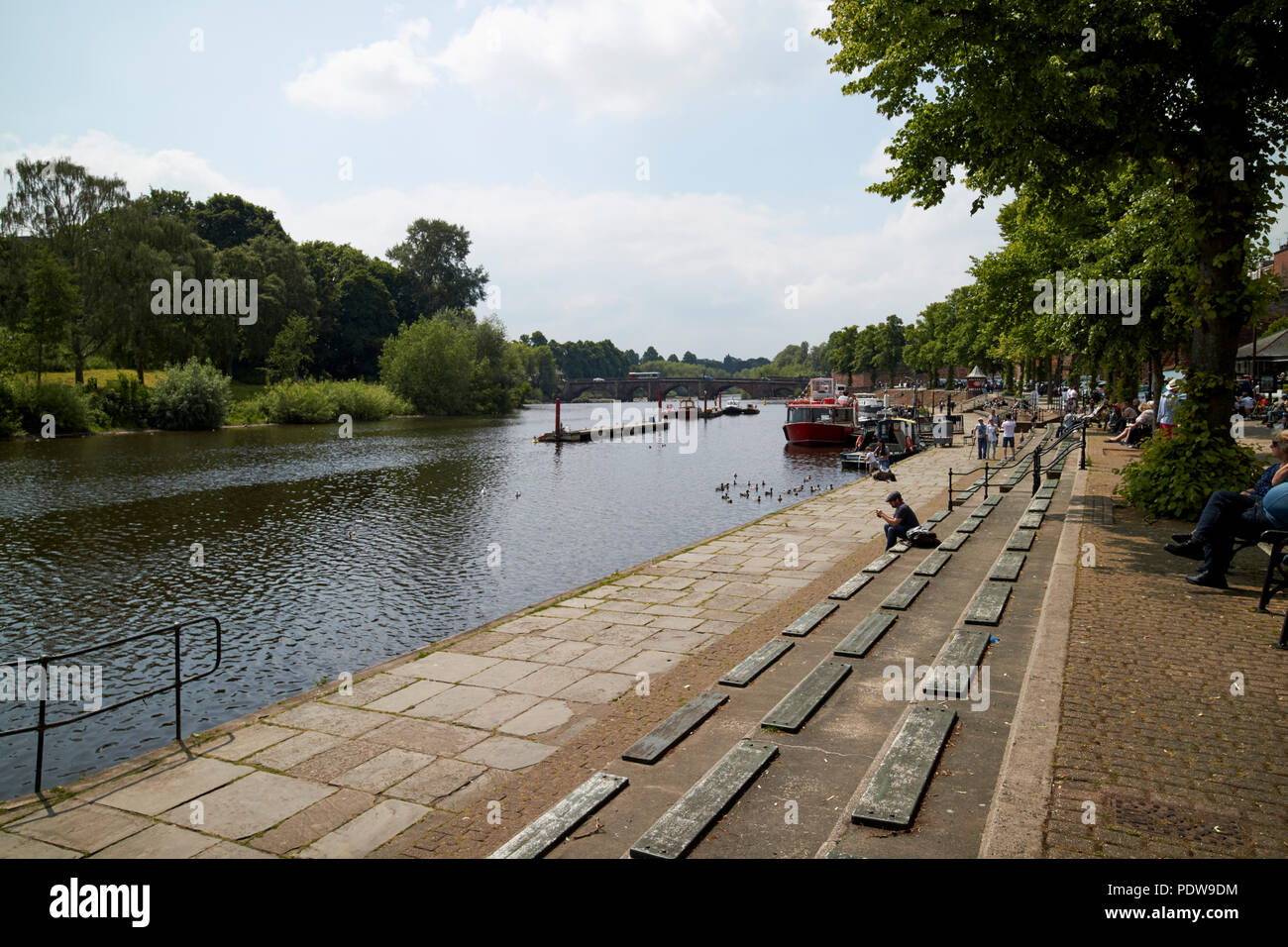 river dee in chester cheshire england uk Stock Photo