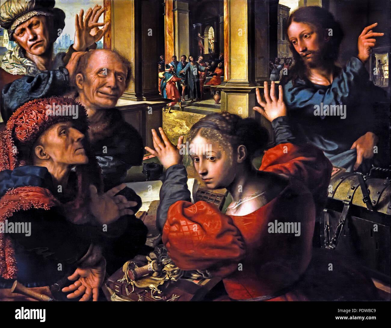 Appointment of the apostle Matthew 1539/1540  by Jan Sanders van Hemessen ( 1500 Antwerpen - 1563/66 Haarlem) Flemish, The, Netherlands, Dutch, - Stock Image