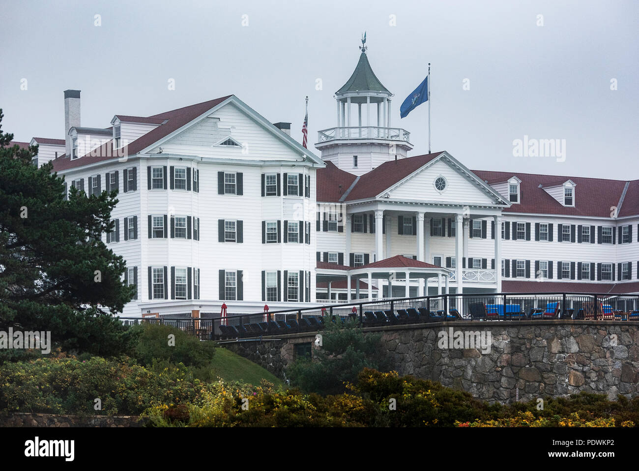The Colony Hotel, Kennebunkport, Maine, USA. - Stock Image