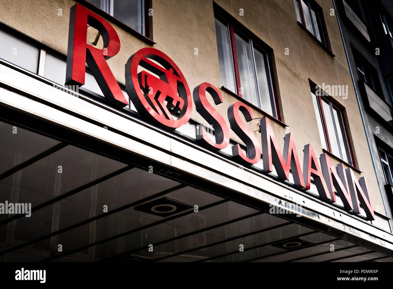 Rossmann drug store chain sign - Stock Image