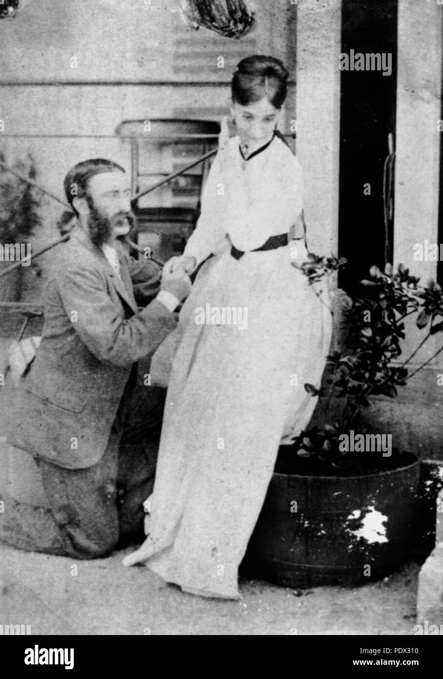 245 StateLibQld 1 186167 Captain Walter and Mrs Creagh in 1868 - Stock Image