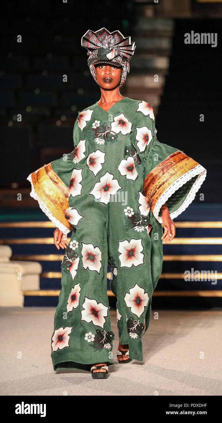 London Uk 10th Aug 2018 Afternoon Catwalk Show Models Wearing Designs From Kachi Blazers Nigeria Mercy