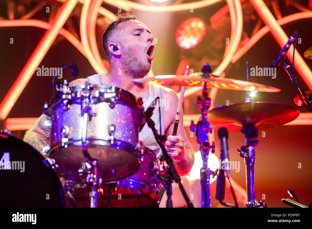 Las Vegas, NV, USA. 10th Aug, 2018. ***HOUSE COVERAGE*** Coheed and Cambria at The Joint at Hard Rock Hotel & Casino in Las vegas, NV on August 10, 2018. Credit: Gdp Photos/Media Punch/Alamy Live News Stock Photo