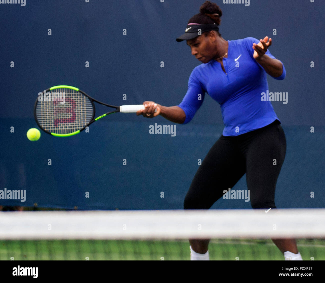 Ohio, USA, August 11, 2018: Serena Williams during practice at the Western Southern Open in Mason, Ohio USA. Brent Clark/Alamy Live News Stock Photo