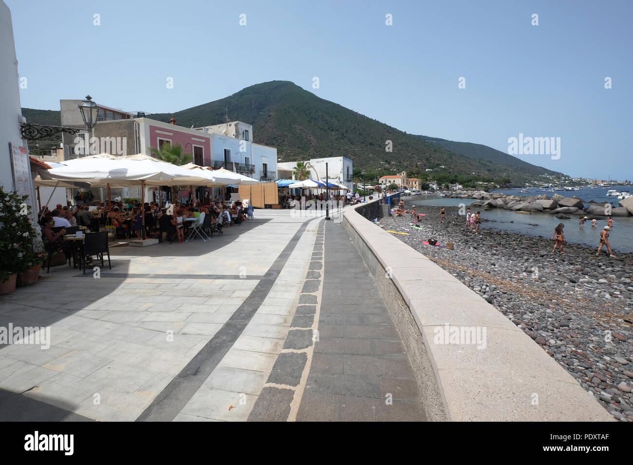 Lingua (Santa Marina) Salina, Aeolian islands,Sicily, italy - Stock Image