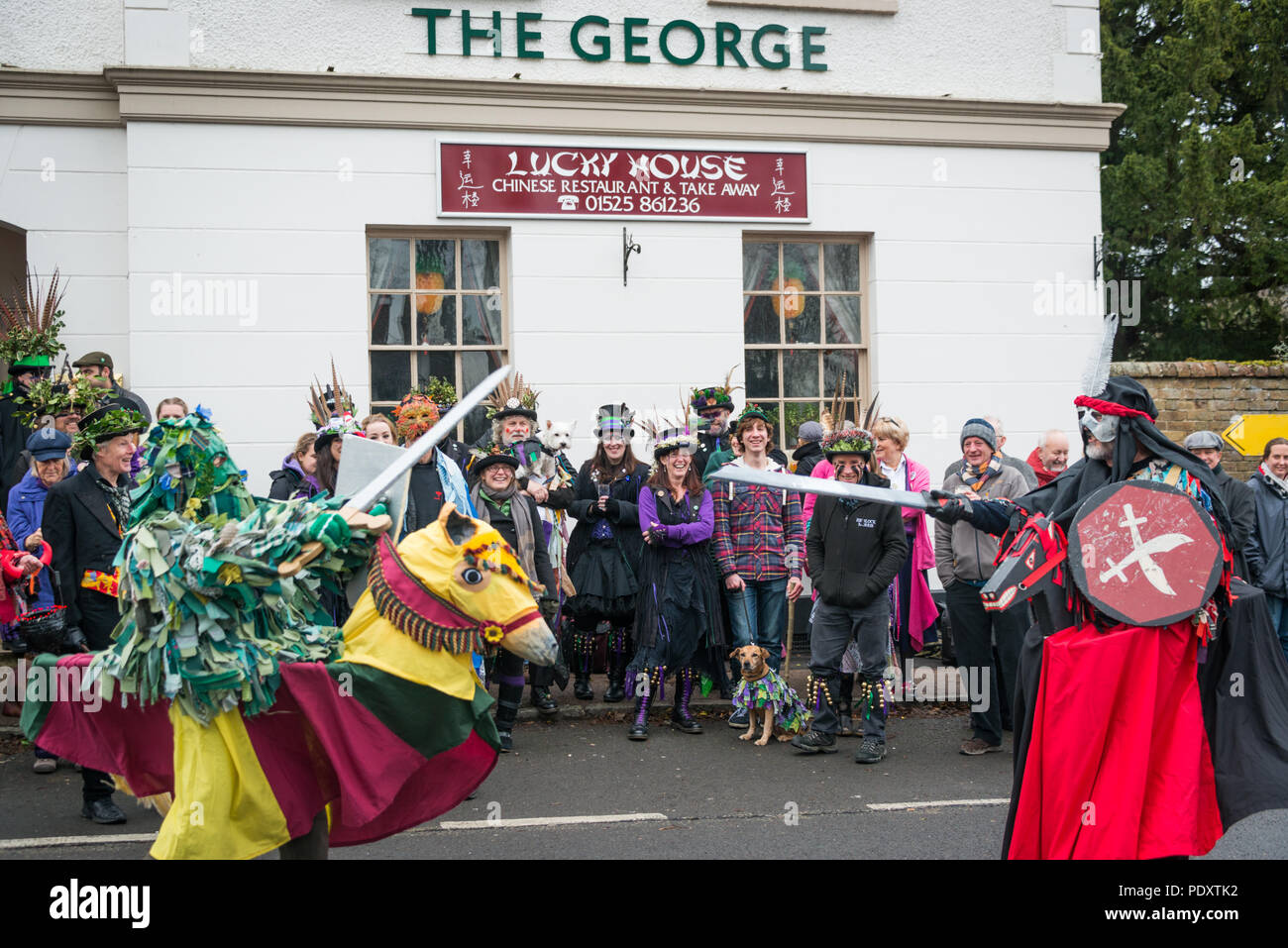 Boxing day celebrations in Silsoe, Bedfordshire - Stock Image