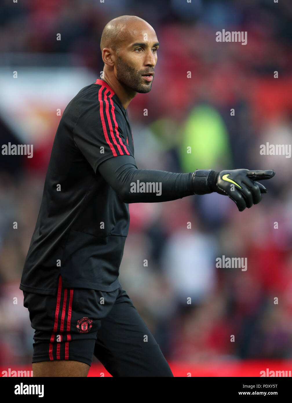 Manchester United Goalkeeper Lee Grant Before The Premier League Match At Old Trafford Manchester Press Association Photo Picture Date Friday August 10 2018 See Pa Story Soccer Man Utd Photo Credit Should