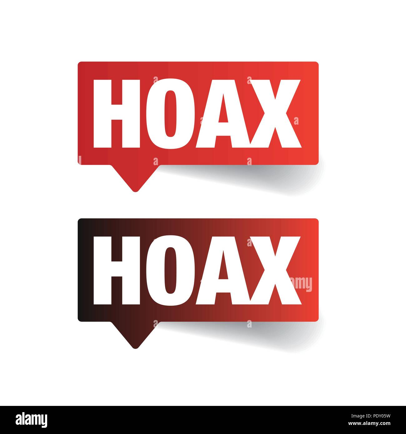 Hoax sign label tag - Stock Vector