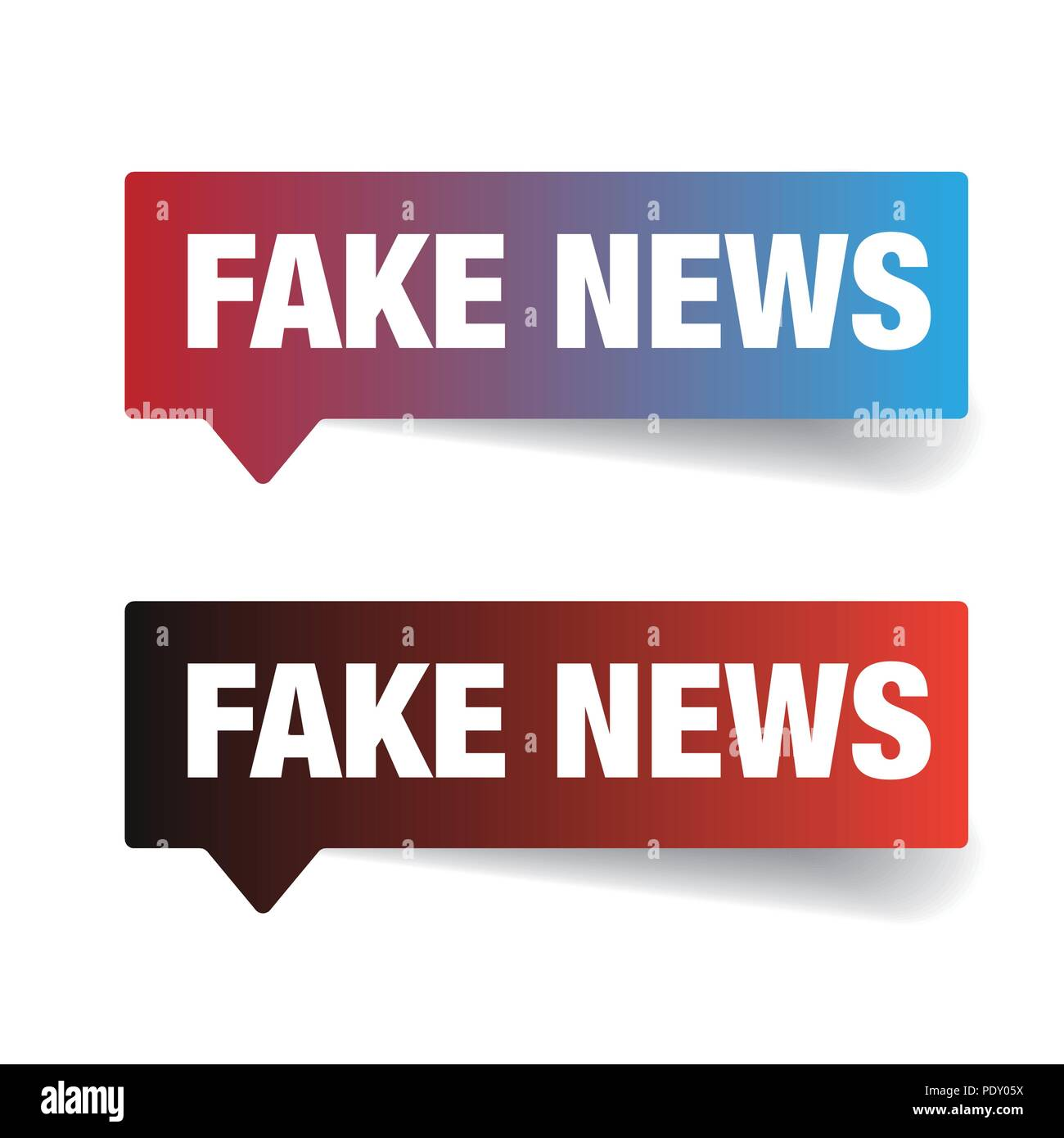 Fake News sign label tag - Stock Vector