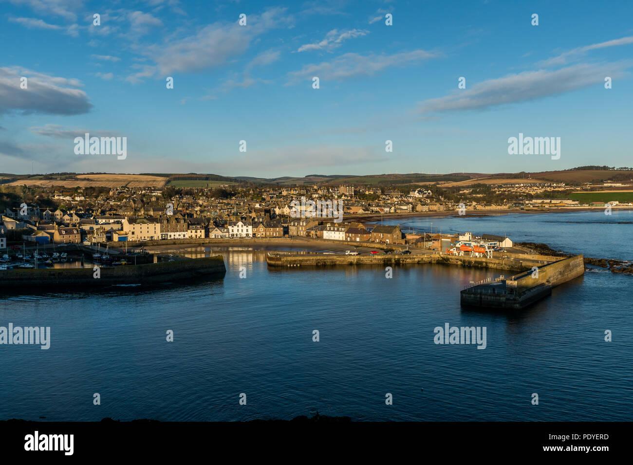 Stonehaven, Aberdeenshire, Scotland, UK, November 24th 2017. Stonehaven harbour on the east coast of Scotland. - Stock Image