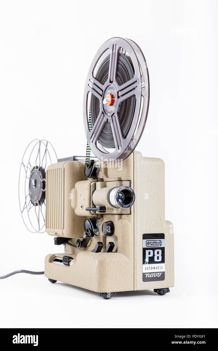 Eumig P8 automatic novo 8mm cine film home movie projector - Stock Image