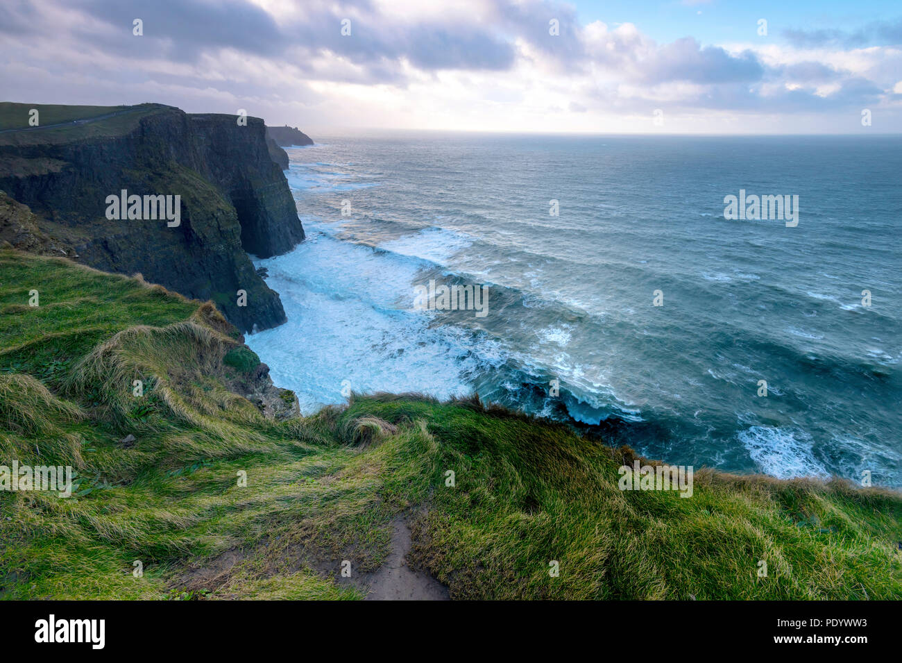 Beautiful landscapes and ruins of Ireland and Northern Ireland stunning scenic scapes of the Irish landscape. - Stock Image
