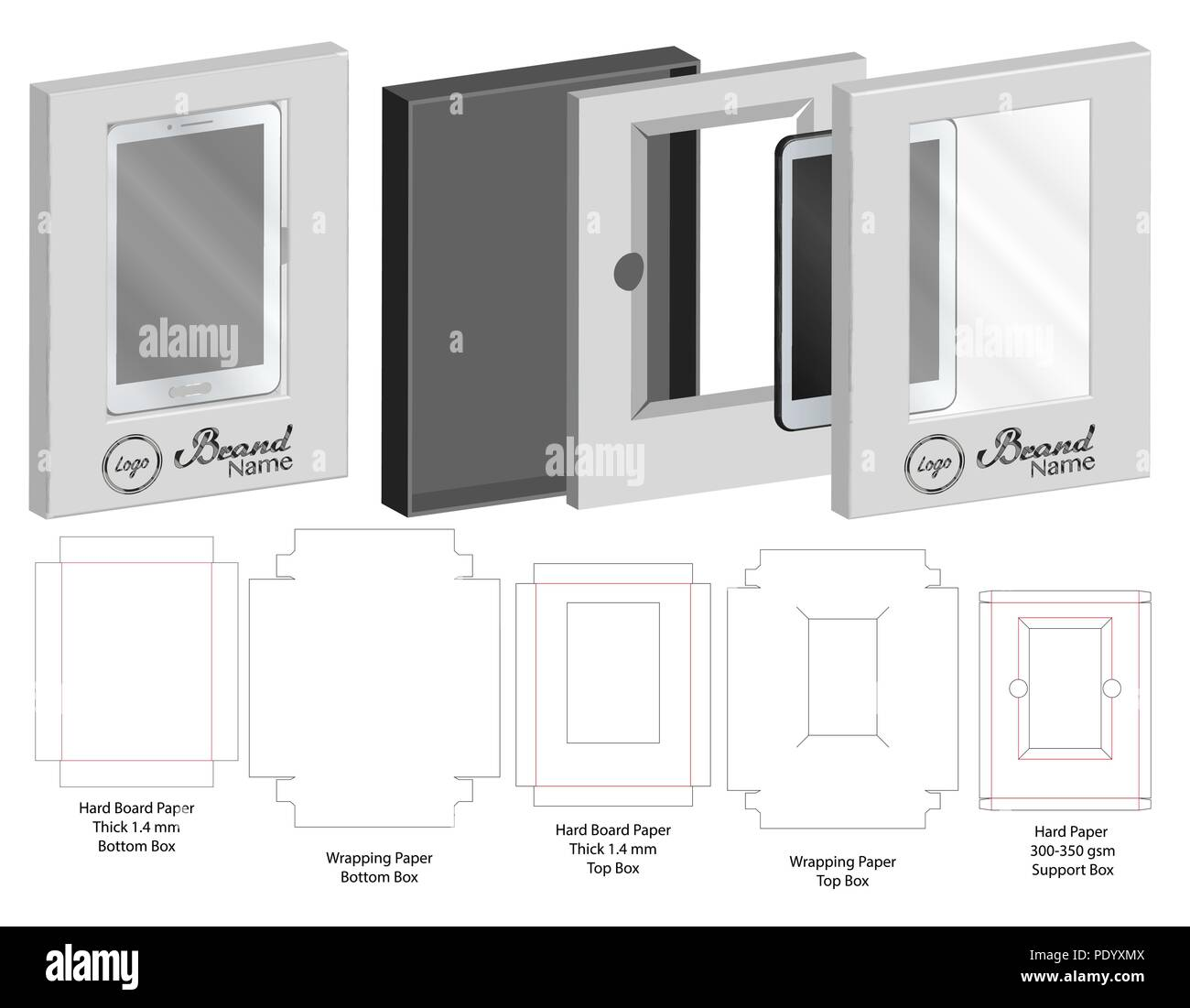 Blueprint paper texture stock photos blueprint paper texture stock box with plastic window die cut mock up template vector stock image malvernweather Choice Image
