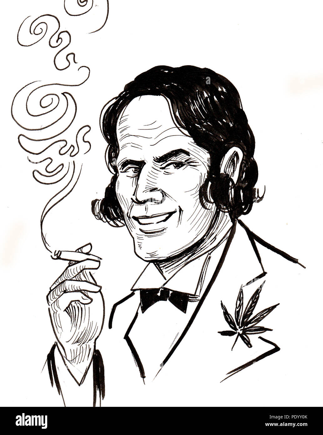 Cartoon Marijuana Cigarette High Resolution Stock Photography And