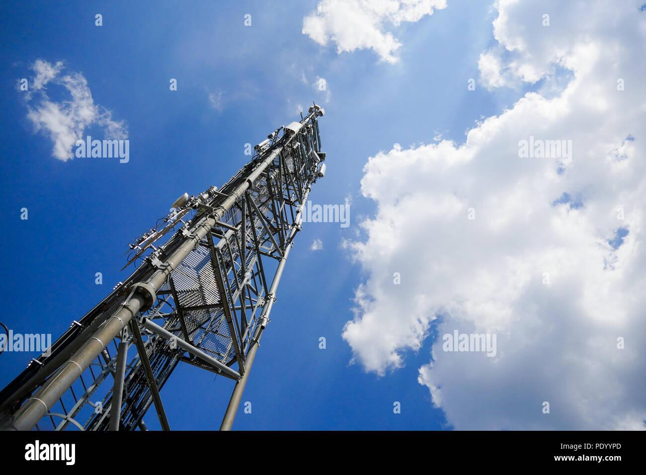 Relay antenna, Barjols, Var, France - Stock Image