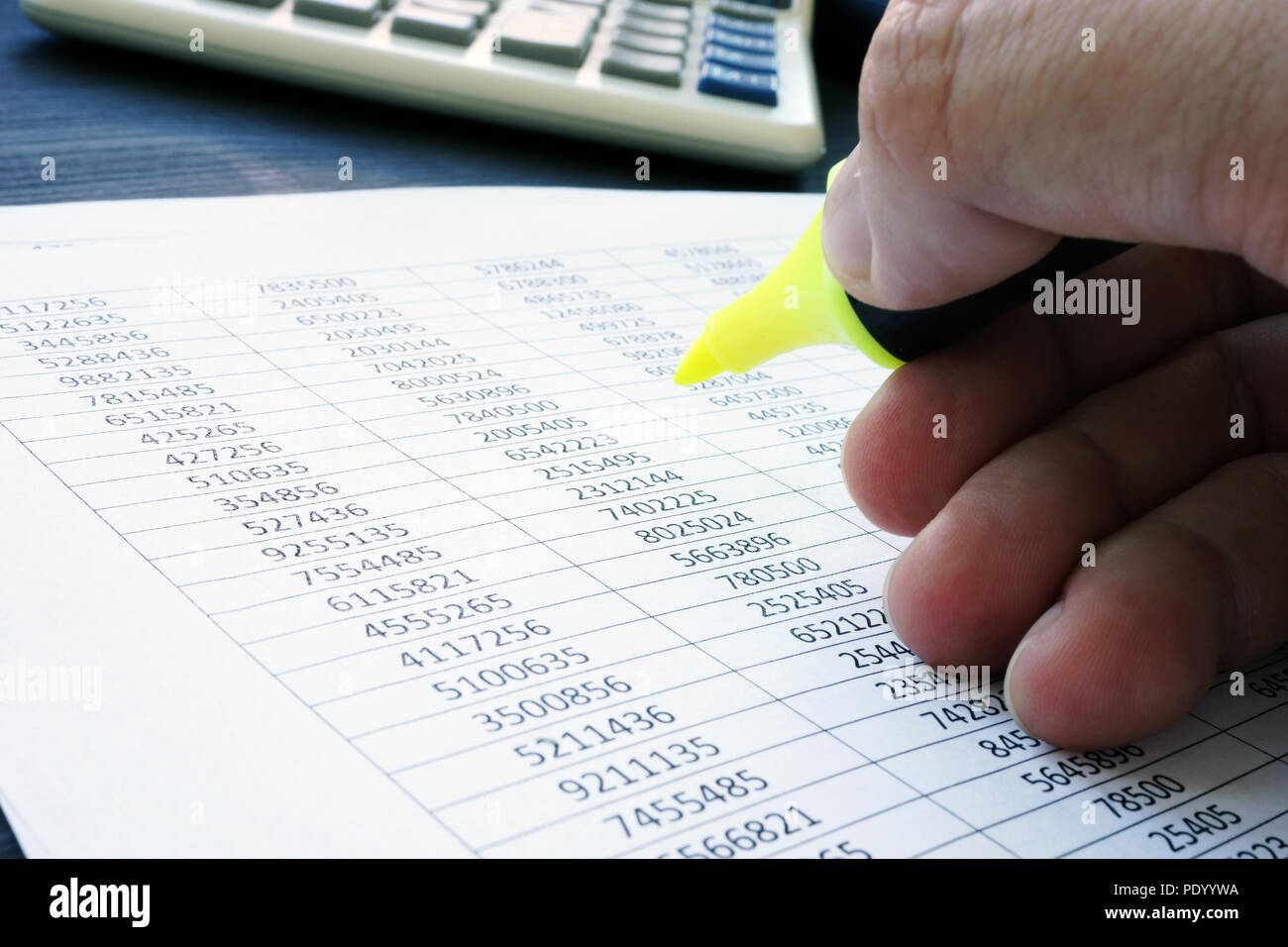 Audit. Auditor is checking financial report. - Stock Image