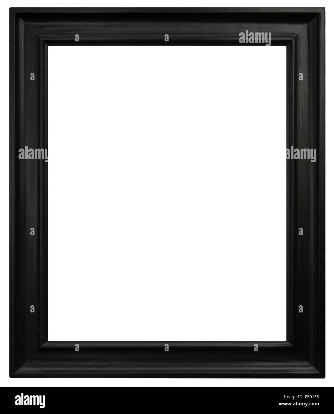 Eleganter und schicker Bilderrahmen in schwarz, im Hochformat Stock Photo