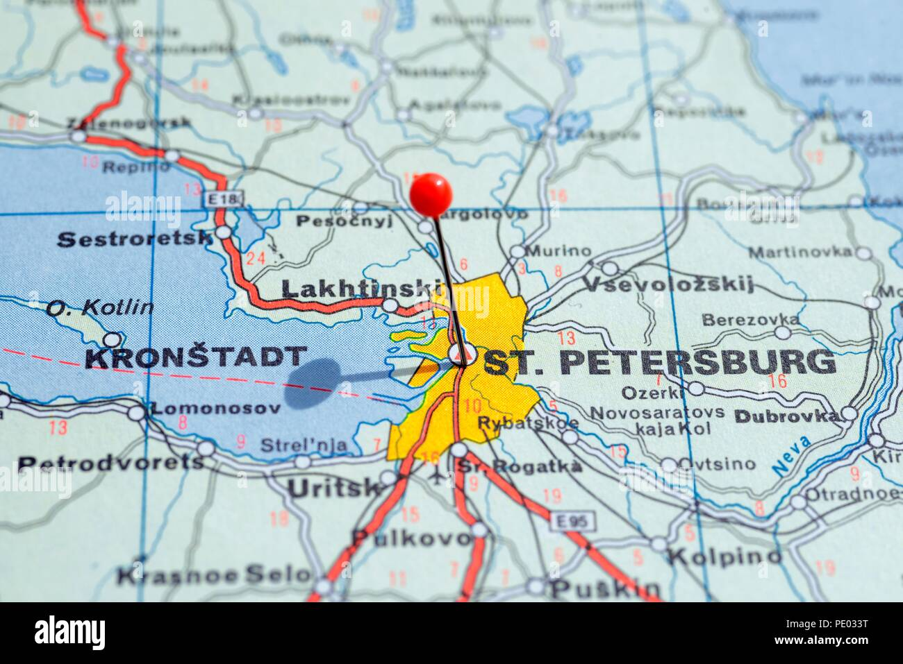 st petersburg map of europe Sweden Stockholm, 07 April 2018: European cities on map series