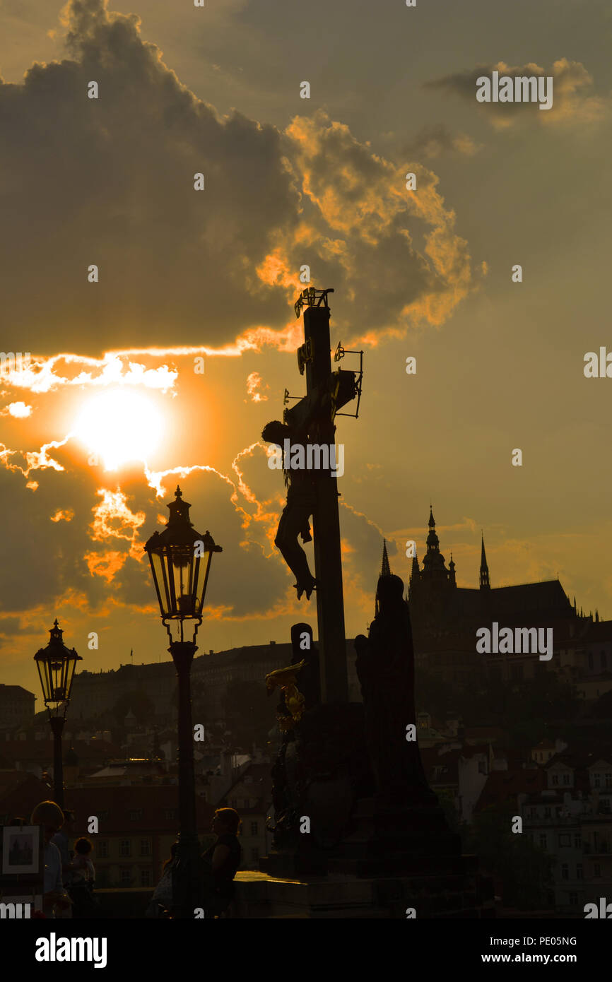 Prague Charles Bridge - Stock Image