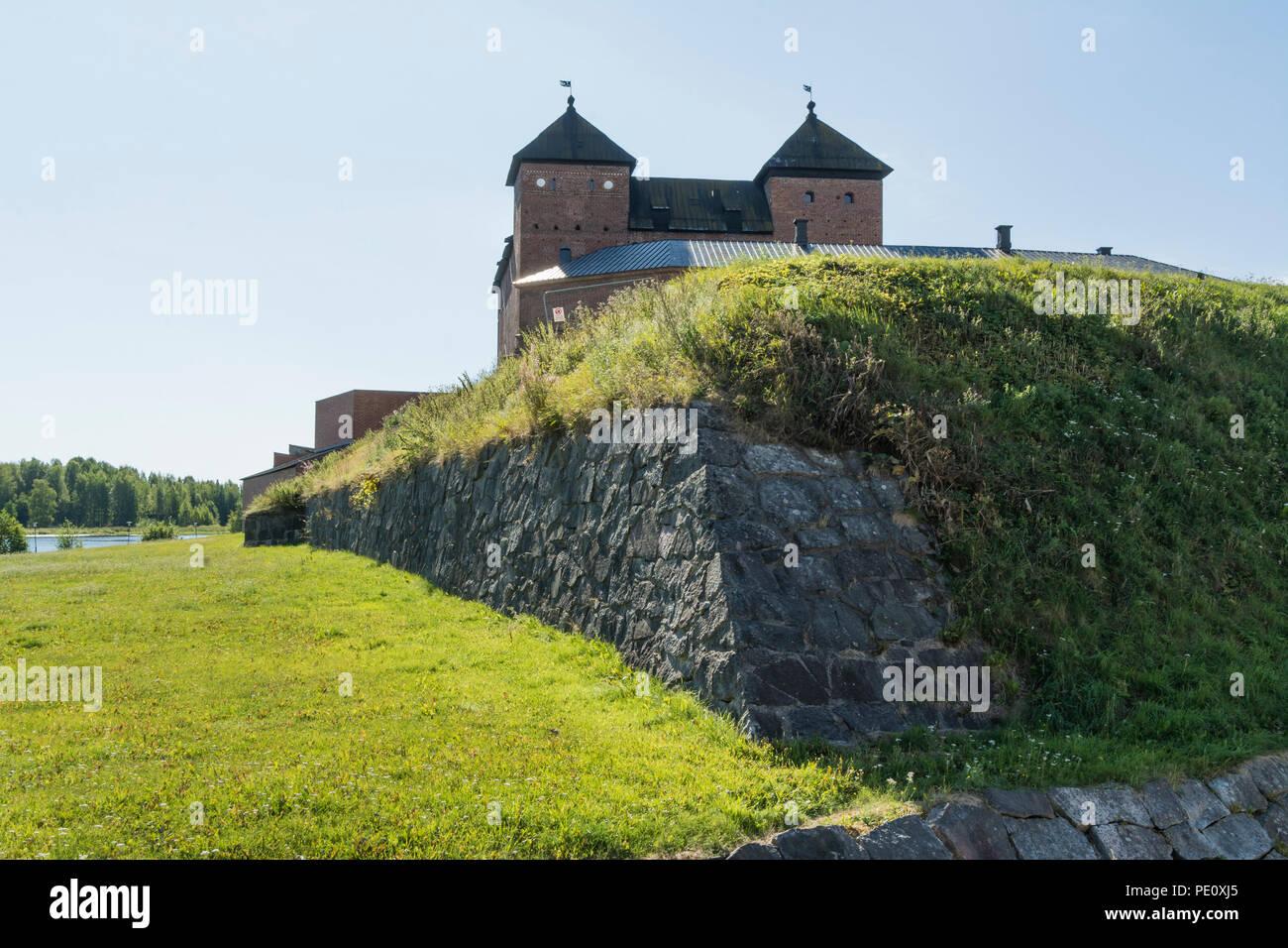 Medieval Häme castle surroundings in Hämeenlinna Finland Stock Photo