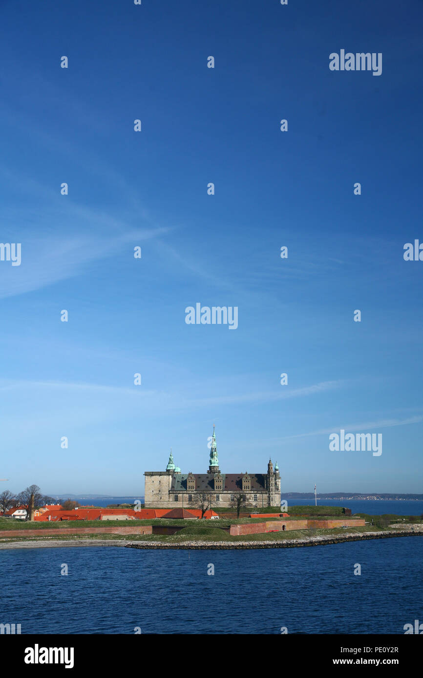 Kronborg Castle in Elsinore, north of Copenhagen one of northern Europe's finest Renaissance castles - Stock Image