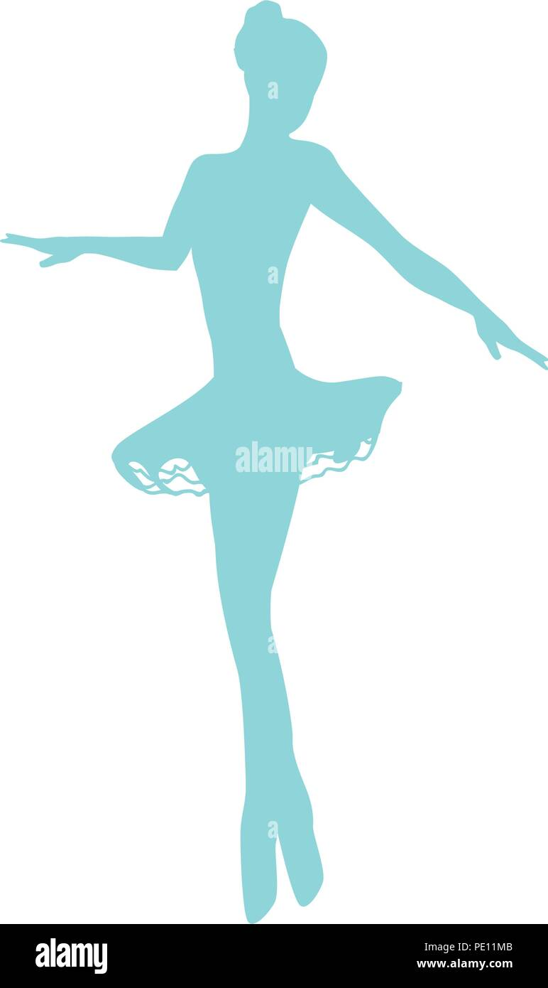 beautiful ballet dancer, ballerina - Stock Vector